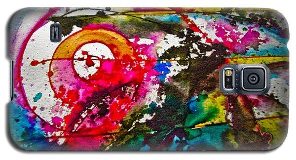 Magenta Spiral Galaxy S5 Case