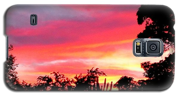 Galaxy S5 Case featuring the photograph Magenta Sunset by DigiArt Diaries by Vicky B Fuller