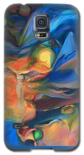 Galaxy S5 Case featuring the painting Magic In The Air - With Border And Title by Brooks Garten Hauschild