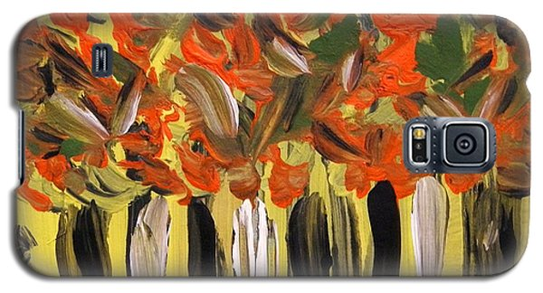 Galaxy S5 Case featuring the painting Magic In The Woods by Mary Carol Williams
