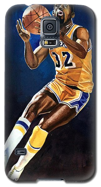 Magic Johnson - Lakers Galaxy S5 Case by Michael  Pattison