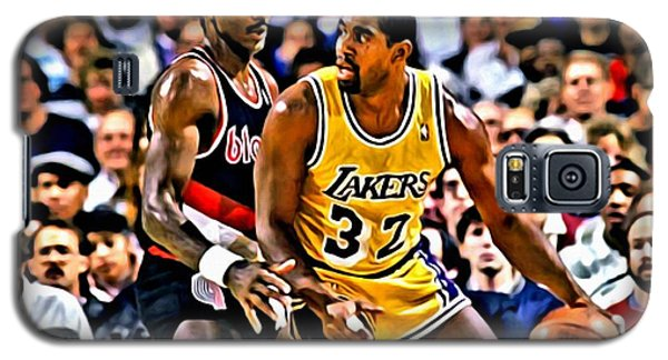 Magic Johnson Vs Clyde Drexler Galaxy S5 Case