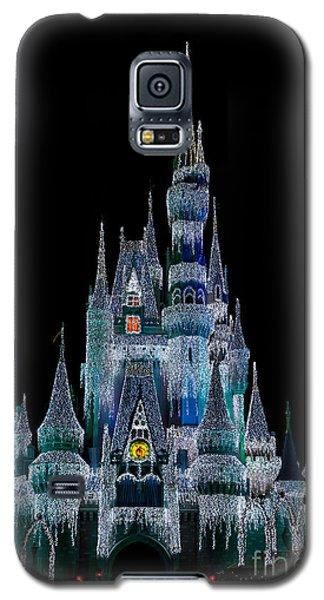 Magic Kingdom Castle Frozen Blue Frost For Christmas Galaxy S5 Case