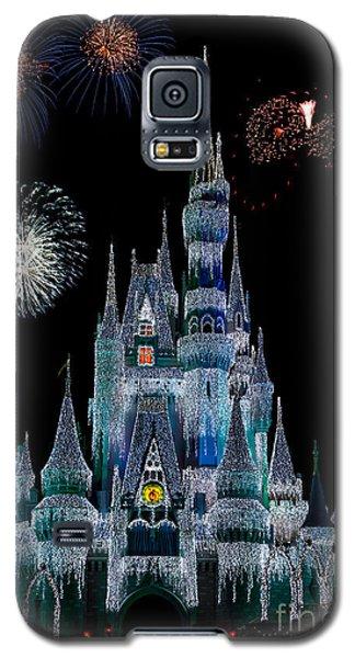 Magic Kingdom Castle Frozen Fireworks Galaxy S5 Case