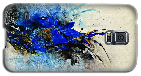 Galaxy S5 Case featuring the painting Magical Blue-abstract Art by Ismeta Gruenwald