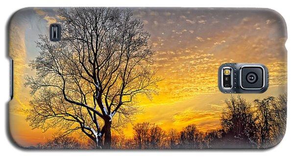 Magical Winter Sunset Galaxy S5 Case