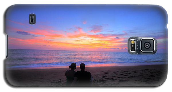 Magnificent Sunset With Couple Galaxy S5 Case