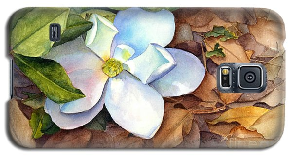 Galaxy S5 Case featuring the painting Magnolia by Bonnie Rinier