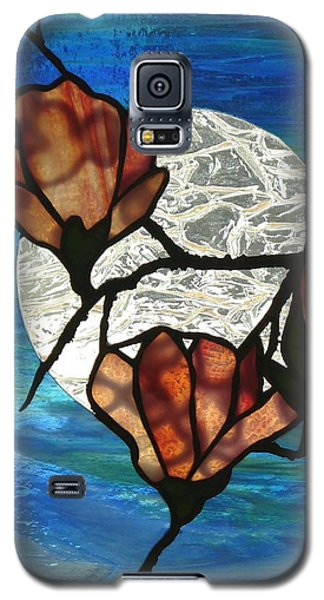 Galaxy S5 Case featuring the glass art Magnolia by Karin Thue
