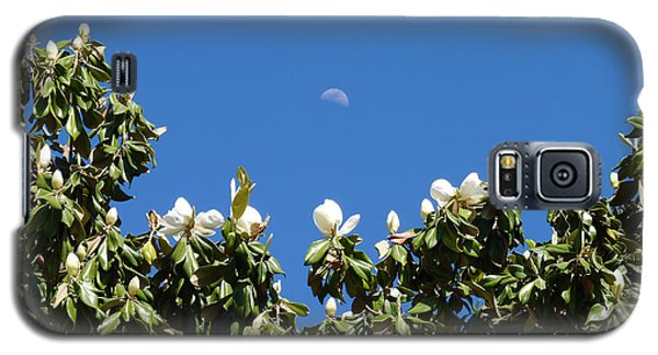 Galaxy S5 Case featuring the photograph Magnolia Moon by Meghan at FireBonnet Art