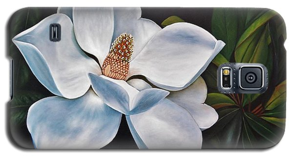 Galaxy S5 Case featuring the painting Magnolia by Paula L