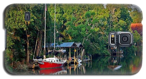 Magnolia Red Boat Galaxy S5 Case