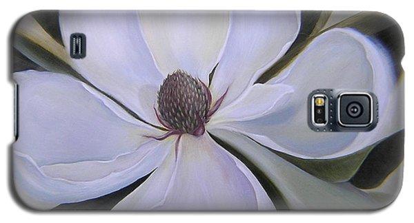 Magnolia Galaxy S5 Case - Magnolia Square by Mishel Vanderten