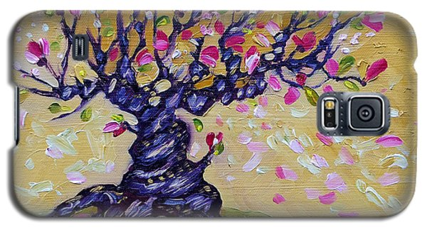 Magnolia Tree Flower Painting Oil On Canvas By Ekaterina Chernova Galaxy S5 Case