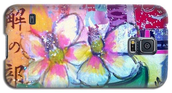 Magnolia Galaxy S5 Case - Magnolias And Strawberries by Melinda Jones