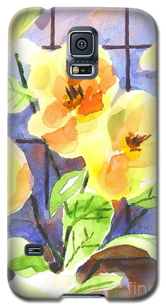 Galaxy S5 Case featuring the painting Magnolias by Kip DeVore