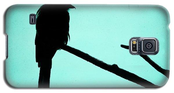 Magpie Shrike Silhouette Galaxy S5 Case