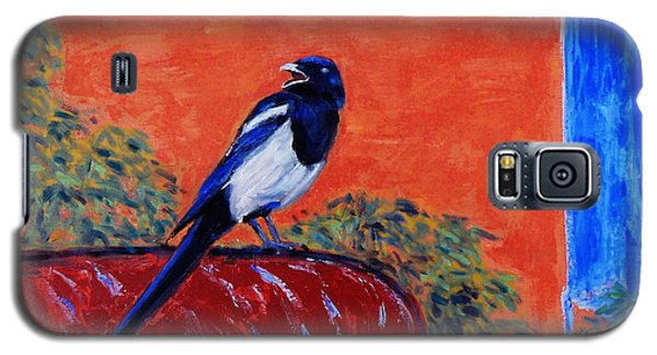 Magpie Singing At The Bath Galaxy S5 Case by Xueling Zou