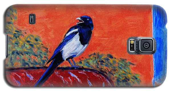 Magpie Singing At The Bath Galaxy S5 Case
