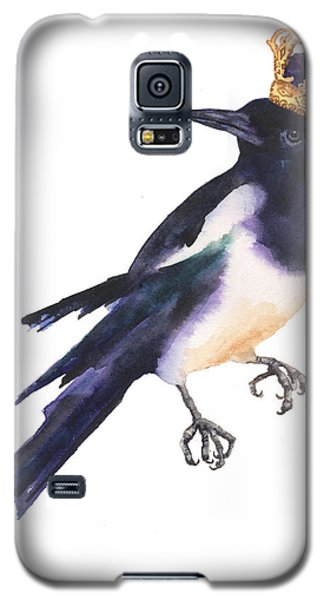 Magpie Watercolor Galaxy S5 Case by Alison Fennell