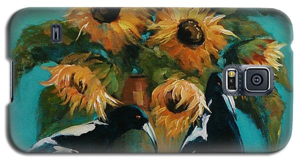 Magpies In Blue Galaxy S5 Case
