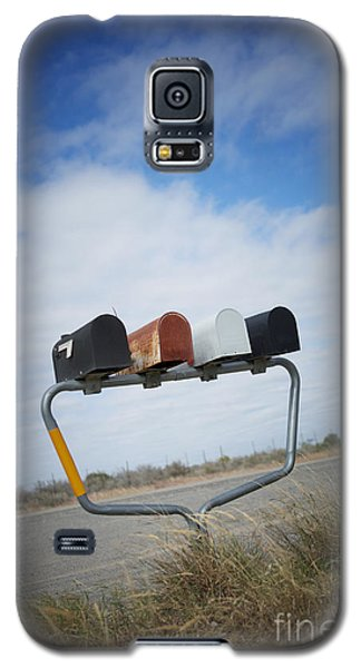 Galaxy S5 Case featuring the photograph Mailboxes by Erika Weber