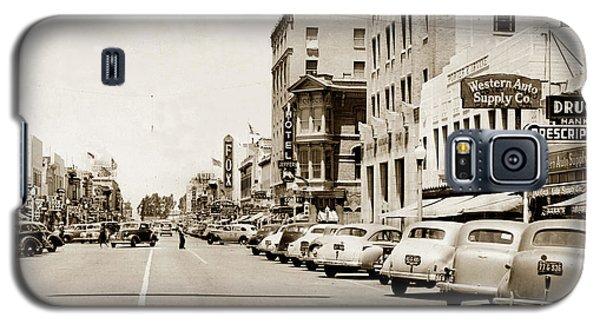 Main Street Salinas California 1941 Galaxy S5 Case by California Views Mr Pat Hathaway Archives