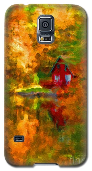 Maine Cabin In The Woods Galaxy S5 Case