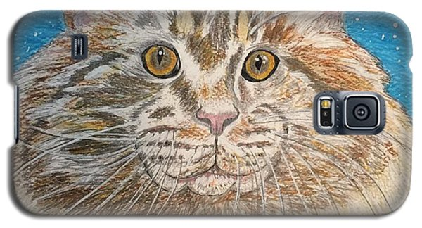 Galaxy S5 Case featuring the painting Maine Coon Cat by Kathy Marrs Chandler