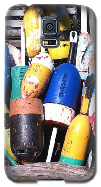 Galaxy S5 Case featuring the photograph Maine Lobster Buoys by Denyse Duhaime
