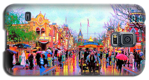 Galaxy S5 Case featuring the photograph Mainstreet Disneyland by David Lawson