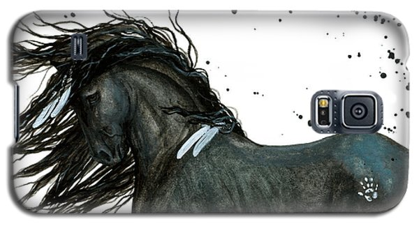 Majestic Friesian Horse 112 Galaxy S5 Case by AmyLyn Bihrle