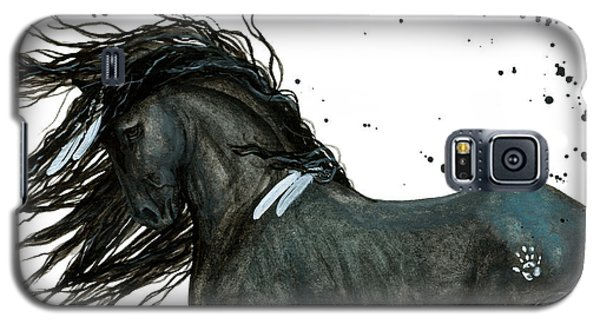 Majestic Friesian Horse 112 Galaxy S5 Case