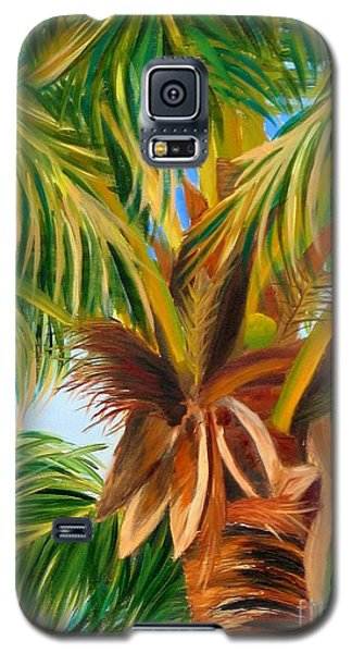 Galaxy S5 Case featuring the painting Majestic Palm by Shelia Kempf
