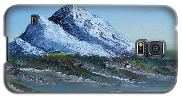 Galaxy S5 Case featuring the painting Majestic Peaks by Jennifer Muller