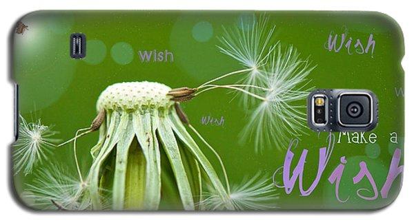 Make A Wish Card Galaxy S5 Case by Lisa Knechtel