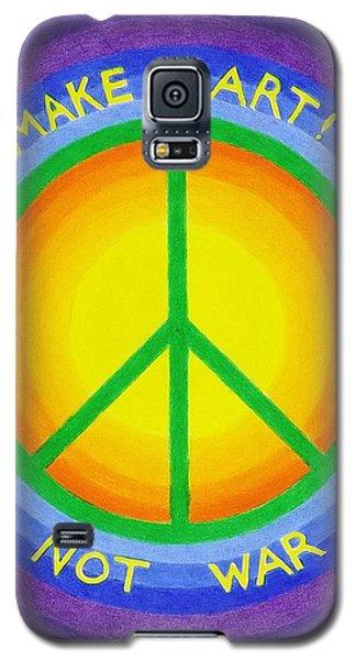 Make Art Not War Galaxy S5 Case