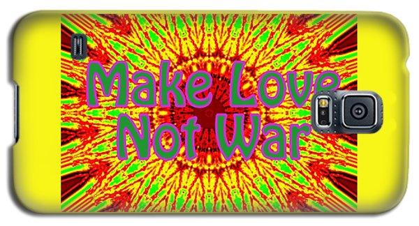 Make Love Not War 1 Galaxy S5 Case