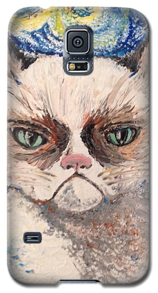 Galaxy S5 Case featuring the painting Make Me Happy by Iya Carson