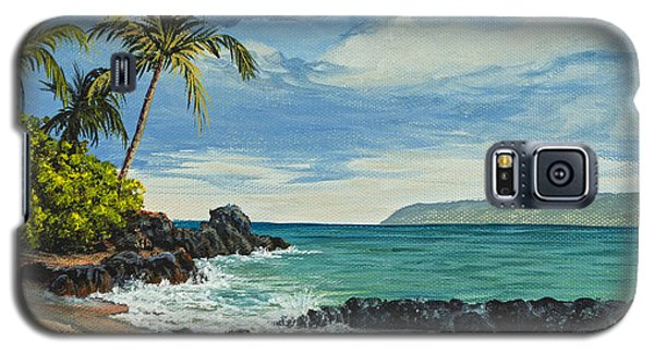 Galaxy S5 Case featuring the painting Makena Beach by Darice Machel McGuire