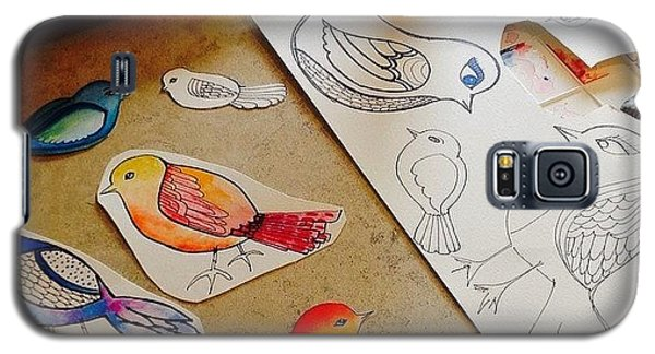 Animal Galaxy S5 Case - Making Some #birds...just Felt Like by Robin Mead