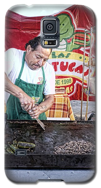 Galaxy S5 Case featuring the photograph Making Tortas by Hugh Smith