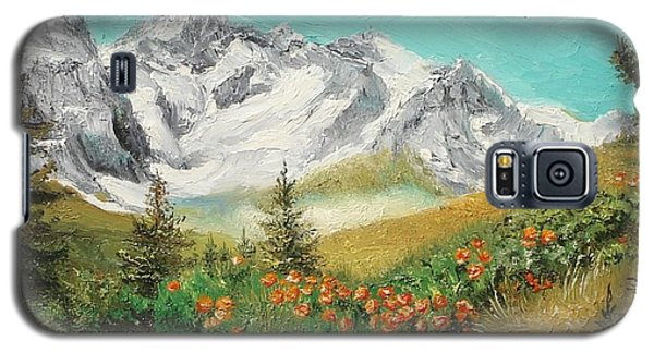 Galaxy S5 Case featuring the painting Malaiesti by Sorin Apostolescu