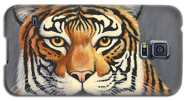 Galaxy S5 Case featuring the painting Malayan Tiger Portrait by Penny Birch-Williams