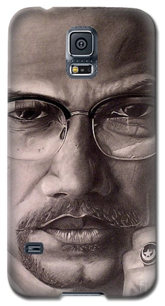 Malcolm X Galaxy S5 Case by Wil Golden