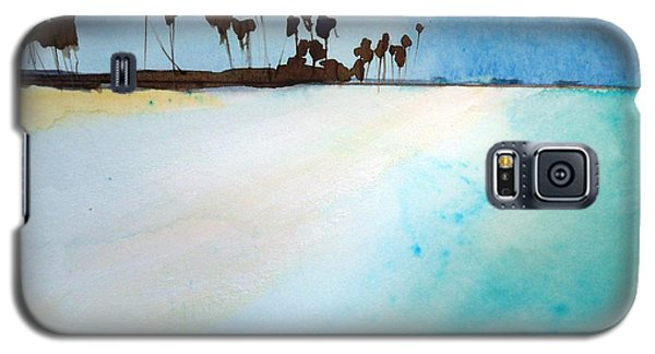 Galaxy S5 Case featuring the painting Maldives  by Ed  Heaton