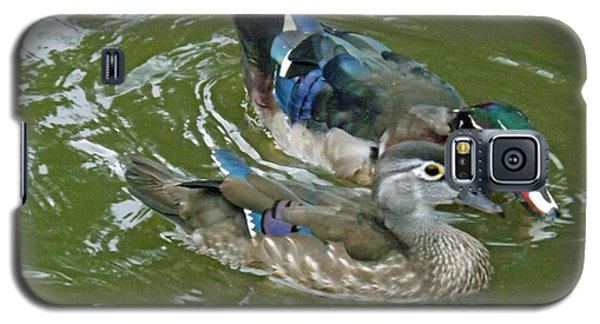 Male And Female Wood Ducks Galaxy S5 Case