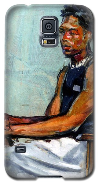 Male Figure Sitting Galaxy S5 Case by Stan Esson