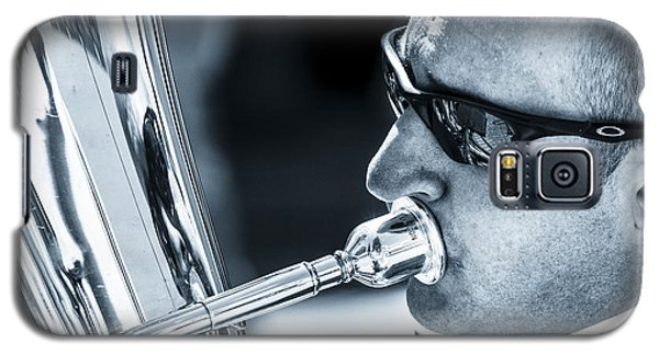 Male In Sunglasses Blowing Mouthpiece Of Tuba Galaxy S5 Case