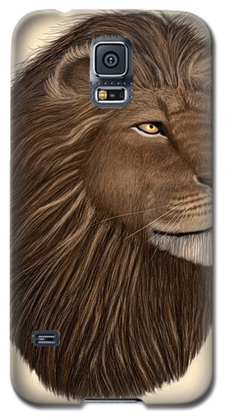 Male Lion Portrait Galaxy S5 Case